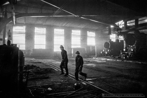 Zaklady Naprawcze Taboru Kolejowego w Olesnicy. Luty 1980r. Foto Ireneusz Kazmierczak.