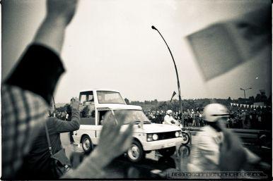 Papiez Jan Pawel II w czasie 2 pielgrzymki do Polski_Katowice