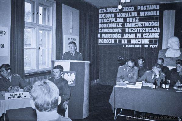 11-Batalion Rozpoznania Radioelektronicznego - zebranie ZSMP - 1979r.