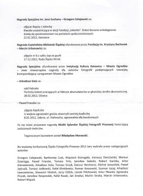 Komunikat-2-Śląska Fotografia Prasowa 2012