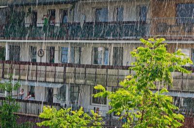 Letni deszcz w Tychach