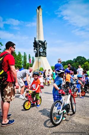 Wyscigi dzieci na rowerach; Tychy - 22.06.2013