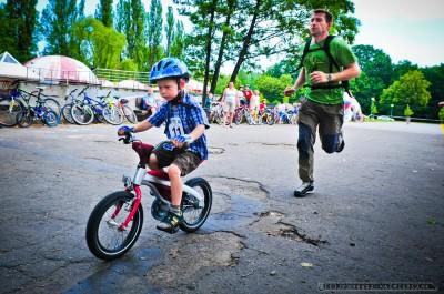 Wyścigi dzieci na rowerach; Tychy - 22.06.2013