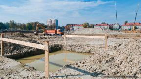 Budowa stadionu GKS Tychy 09.10.2013