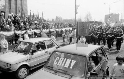 Pochód 1-MAJ 1988 - TYCHY [PRL]