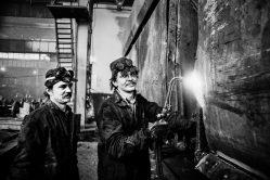 Zakłady Naprawcze Taboru Kolejowego w Oleśnicy. Luty 1980r._Fot_Ireneusz KAZMIERCZAK.