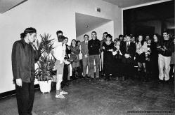 PREMIERA_JADRO SZALENSTWA_Teatr BELFEgoR_Tychy_1993_FOT_IRENEUSZ KAZMIERCZAK. S³awomir ¯ukowski za³o¿y³ Teatr BELFEgoR w Tychach w 1986 roku.