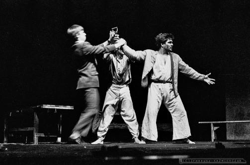 WYDMUCHOWO_Teatr BELFEgoR_Tychy_1988_FOT_IRENEUSZ KAZMIERCZAK. S³awomir ¯ukowski za³o¿y³ Teatr BELFEgoR w Tychach w 1986 roku.